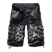 2019 Summer New Large Size 29-40 Loose Mens Military Cargo Shorts Army Camouflage Shorts