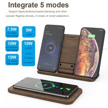 KEYSION 5 Coils Dual Wireless Charger Stand/Pad convertible Qi Fast Charging for iPhone 11 XS Max XR Samsung AirPods Xiaomi Mi9