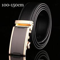 110 140 150cm Belts for Men Top Quality Automatic Buckle Men's Belt Genuine Leather Belts Men Business Trouser Belt for Jeans