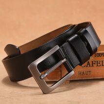 150 170cm Genuine Leather Men's Leisure Belt Retro Pin Buckle Good Quality Large Size Male Belts Luxury Designer Belt Mens Gifts