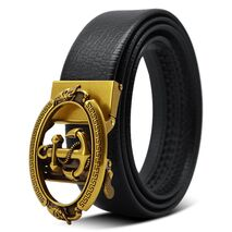 2020 Gold Anchor Designer Belts High Quality Men Fashion Luxury Brand Automatic Buckle Leather Waist Belt for Jeans Kemer riem
