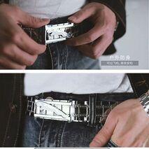 Men's Belt Metal Stainless Steel Belt Smooth Buckle Chain Waist Belts for Men Luxury Quality Designer Belts Mens Designer Casual