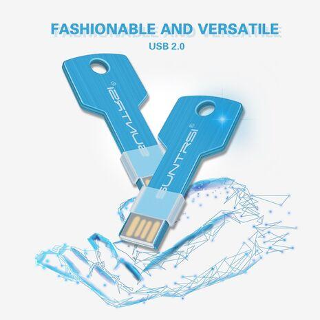 Suntrsi USB Flash Drive 64GB Key Pendrive 32GB Customized logo Pen Drive Metal High Speed USB Stick Real Capacity USB Flash 16GB